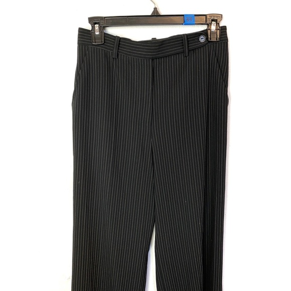 MaxMara Pants - MAX MARA Black Gray Pinstriped Trousers Size 4